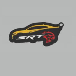 Sin título.png Download STL file Dodge Hellcat SRT Keychain • 3D printer model, 3Leones