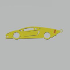lamborghini sv llavero.png Télécharger fichier STL Porte-clés Lamborghini Aventador • Design pour imprimante 3D, 3Leones