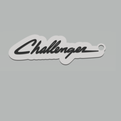 Sin título.png Download STL file Dodge Challenger Keychain • 3D printing template, 3Leones