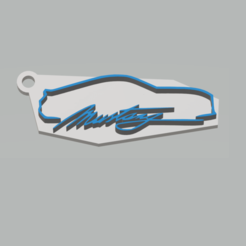 Download free 3D printer files Ford Mustang Keychain, 3Leones