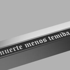 """ESPADA 2.png Download free STL file Pedro Valdivia Sword series """"Ines of my Soul"""" • 3D printable template, Hacedor3d"""