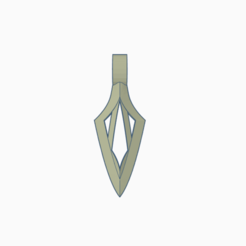 Double top.png Download free STL file Double Arrowhead Jewel • 3D print object, wahlentom
