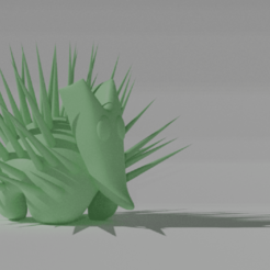 Download free 3D model Mexican hedgehog, NathanFrn