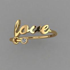 Descargar STL anillo de amor, HG66