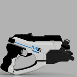Descargar STL Pistola de efecto masa M5 Phallanx, Asgardian_Armoury
