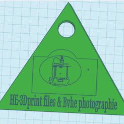 Download free 3D printing designs Mon logo porte clef, bvhephotographie