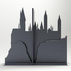 untitled.945.jpg Télécharger fichier STL gratuit Serre-livres Poudlard • Objet imprimable en 3D, llun_artes
