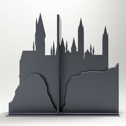 untitled.945.jpg Download free STL file Hogwarts bookends • 3D printing template, llun_artes