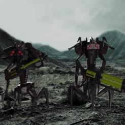 CRONS11.png Download STL file Undead Space Spider Robots • Design to 3D print, DanBarca