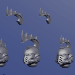 Download free STL file Space Sharks Heads • 3D printer model, DanBarca