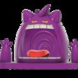Gigantamax Gengar swamp v2.png Télécharger fichier STL gratuit Gigantamax Gengar dans un marais (Pokemon) キョダイマックス ゲンガー MMU Pièces multicolores • Design pour imprimante 3D, Jangie