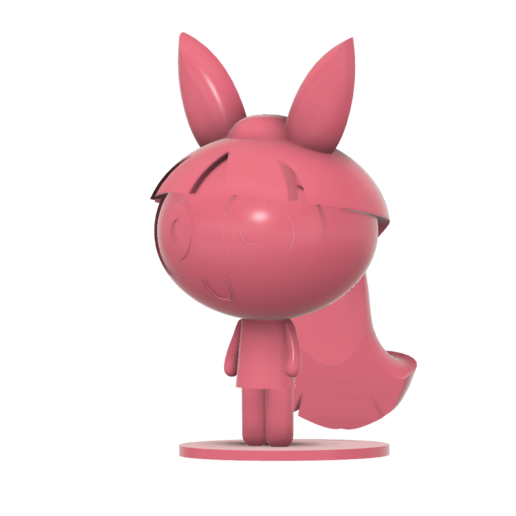 Blossom Power Puff girl SLA v4.png Télécharger fichier STL gratuit Les filles de la poupée de fleurs • Plan pour impression 3D, Jangie
