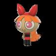 Blossom Power Puff girl v19.png Télécharger fichier STL gratuit Les filles de la poupée de fleurs • Plan pour impression 3D, Jangie