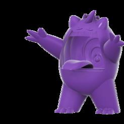 Download free 3D printing designs Gigantamax Gengar (Pokemon) キョダイマックス ゲンガー, Jangie