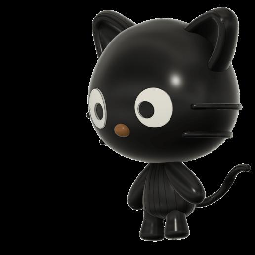 Cococat_final_correct_v2.png Télécharger fichier STL gratuit Chococat (チョコキャット, Chokokyatto) de Hello kitty • Modèle pour imprimante 3D, Jangie