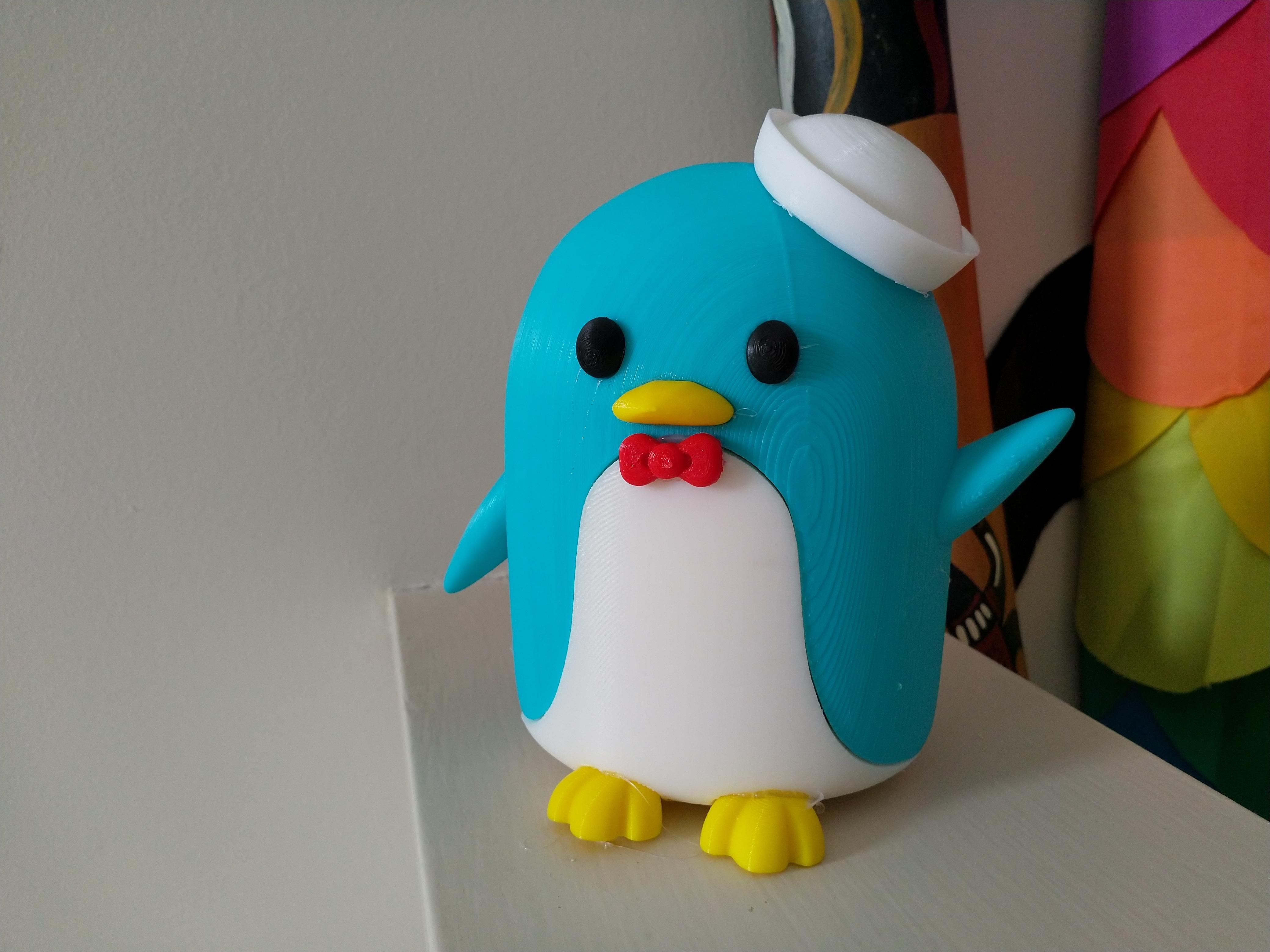 IMG_20200205_140718.jpg Télécharger fichier STL gratuit Tuxedo Sam (l'ami de Hello Kitty) Pingouin (タキシードサム, Takishīdosamu) • Objet pour impression 3D, Jangie