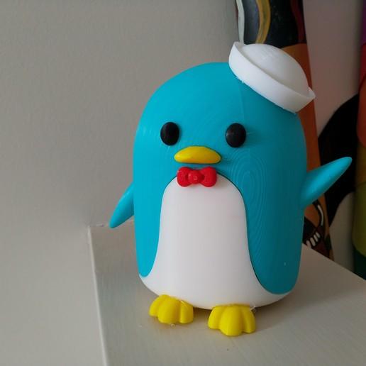 Download free 3D model Tuxedo Sam (Hello Kitty's friend) Penguin (タキシードサム, Takishīdosamu), Jangie
