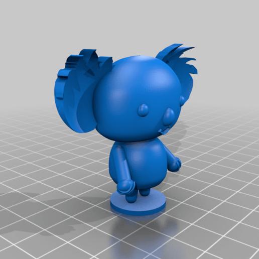 Koala_Pucca_2.png Télécharger fichier STL gratuit Koala (de la série animée Pucca) • Modèle pour impression 3D, Jangie