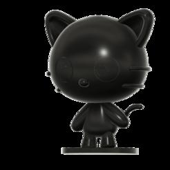 Cococat SLA v2.png Download free STL file Chococat (チョコキャット, Chokokyatto) from Hello kitty • 3D print model, Jangie