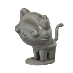 Mio_cat_SLA_v3.png Download free STL file Mio cat (PUCCA) • Template to 3D print, Jangie