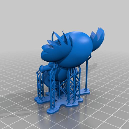 Koala_Pucca_supports.png Télécharger fichier STL gratuit Koala (de la série animée Pucca) • Modèle pour impression 3D, Jangie