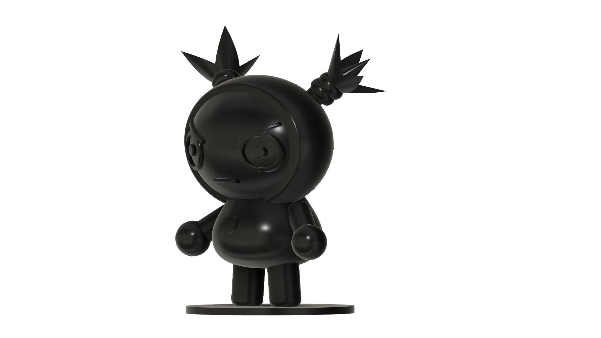 Gura SLA v4.png Télécharger fichier STL gratuit Garu du dessin animé Pucca • Plan à imprimer en 3D, Jangie