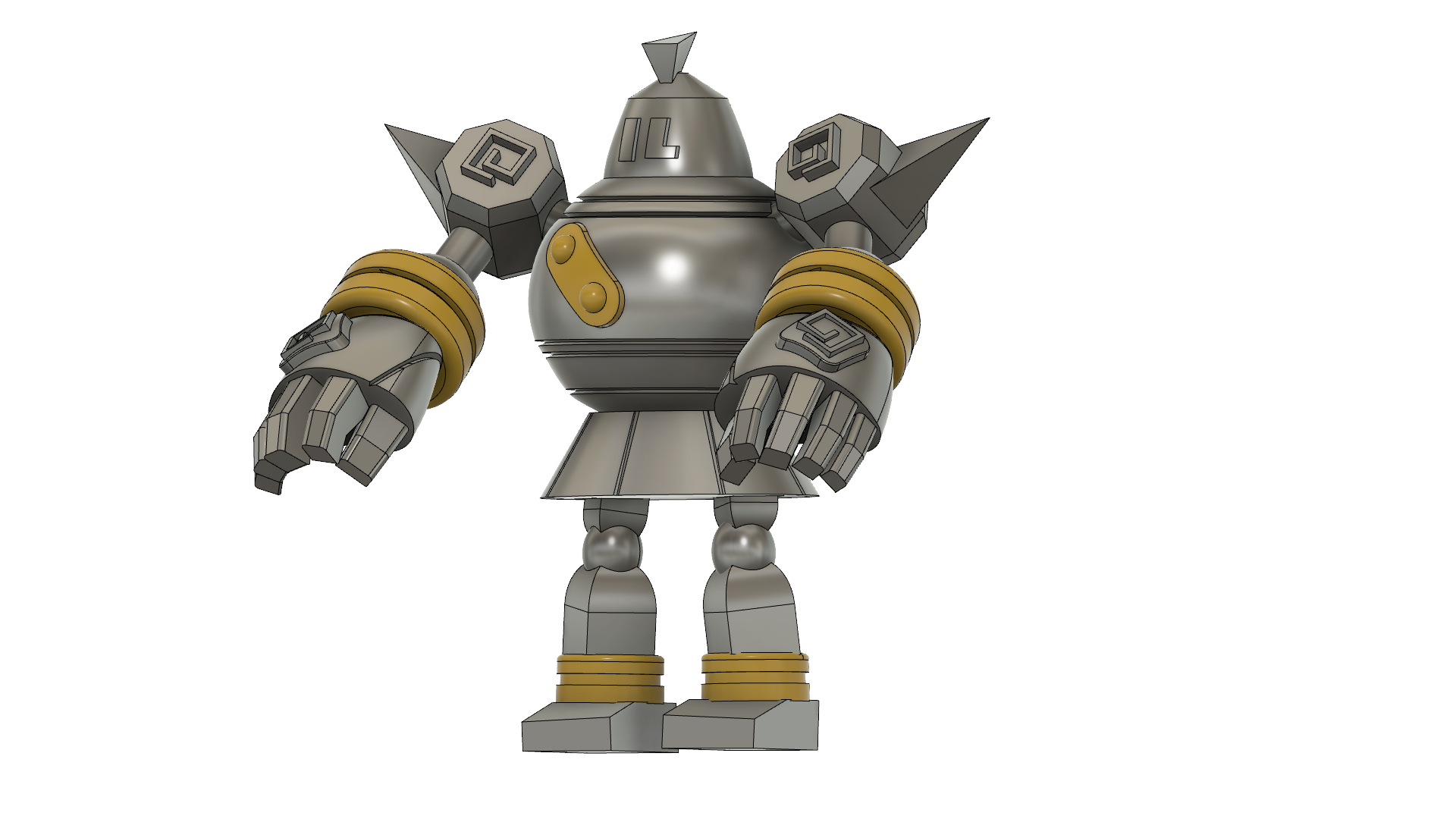 Golurk Pokemon v37.png Download free STL file Golurk Pokemon (ゴルーグ Goruugu) • Design to 3D print, Jangie