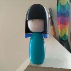 IMG_20191229_133919[1.jpg Télécharger fichier STL gratuit Poupée japonaise (ningyo) 人形 couleur multiple avec un visage MMU • Plan à imprimer en 3D, Jangie
