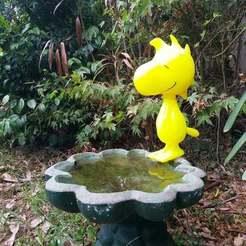 Descargar archivos STL gratis Baño de pájaros de Woodstock, Jangie