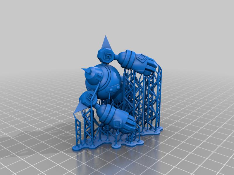 Golurk_support.png Télécharger fichier STL gratuit Golurk Pokemon (ゴルーグ Goruugu) • Objet pour imprimante 3D, Jangie