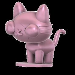 Yani cat SLA v5.png Download free STL file Yani Cat (Pucca) • 3D printable object, Jangie