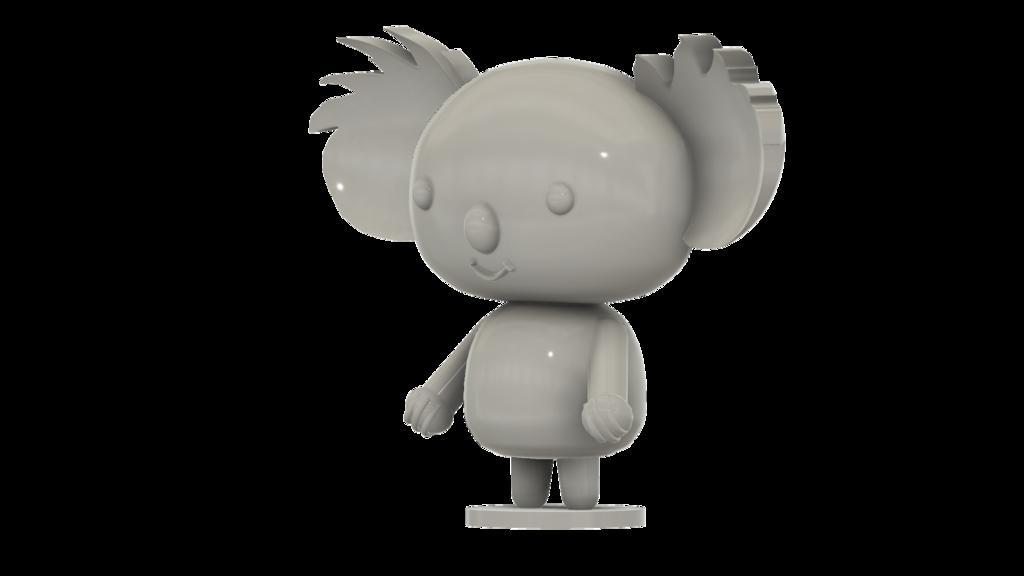 Koala_SLA_v4.png Télécharger fichier STL gratuit Koala (de la série animée Pucca) • Modèle pour impression 3D, Jangie