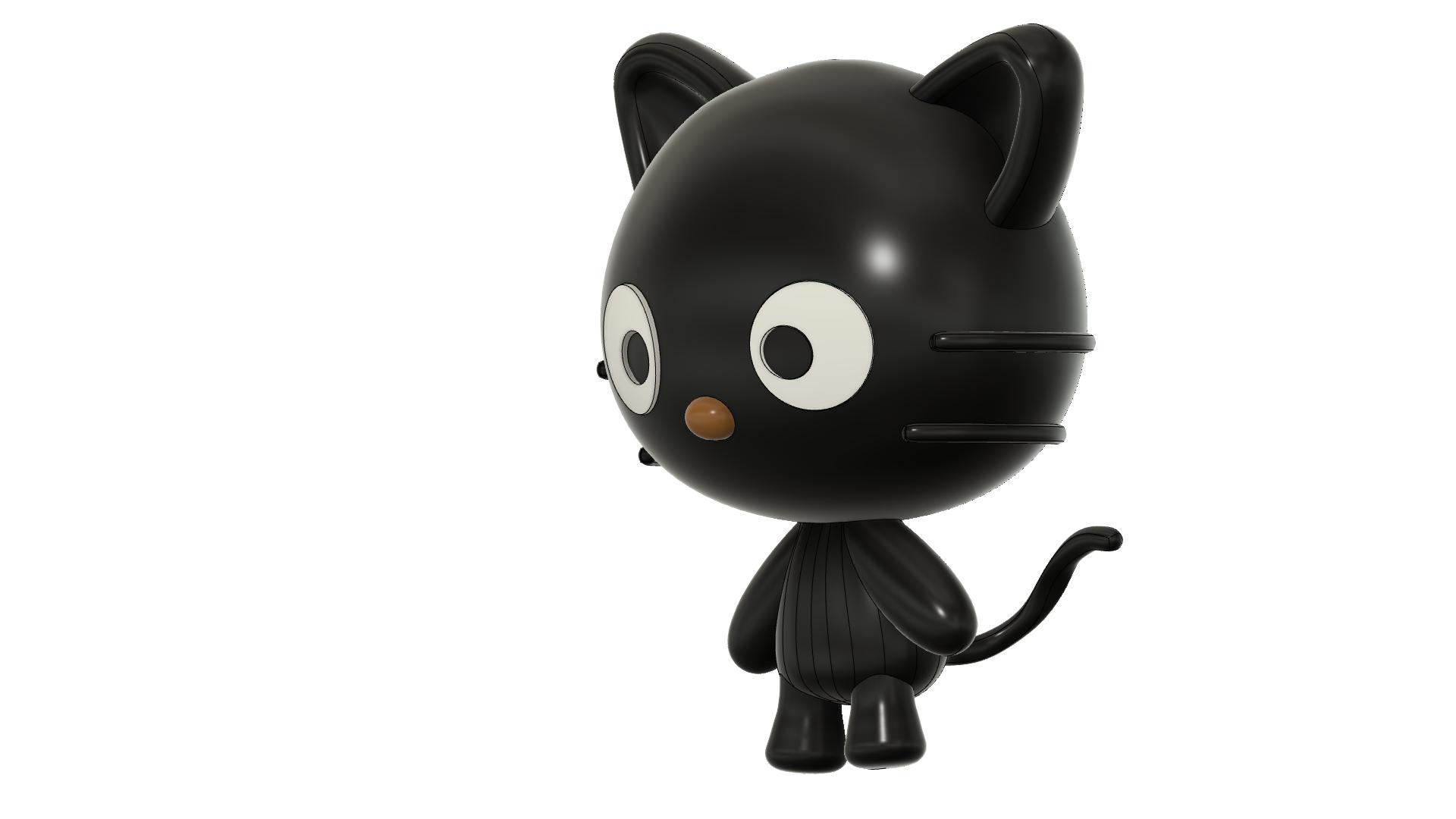 Cococat final correct v2.png Télécharger fichier STL gratuit Chococat (チョコキャット, Chokokyatto) • Objet à imprimer en 3D, Jangie
