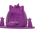 Gigantamax Gengar swamp SLA v5.png Télécharger fichier STL gratuit Gigantamax Gengar dans un marais (Pokemon) キョダイマックス ゲンガー • Design pour imprimante 3D, Jangie