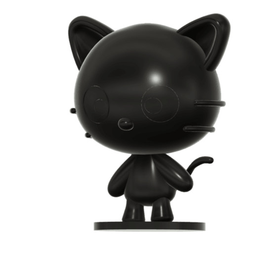 Download free 3D printer files Chococat (チョコキャット, Chokokyatto) from Hello kitty, Jangie