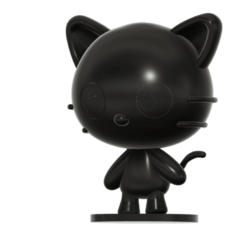 Cococat_SLA_v2.png Download free STL file Chococat (チョコキャット, Chokokyatto) from Hello kitty • 3D print model, Jangie