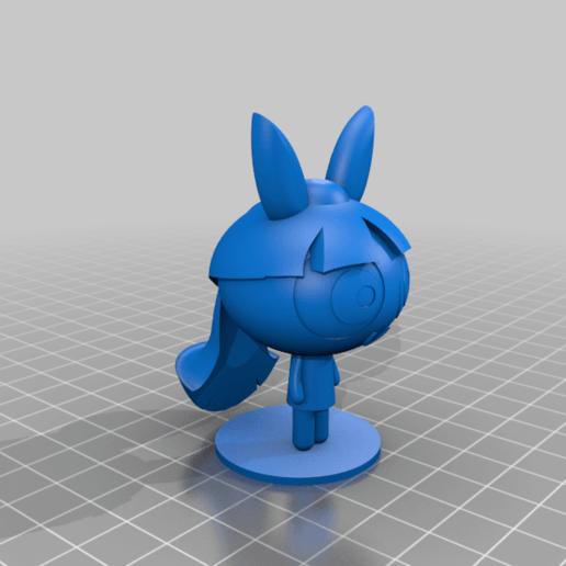 Bloom_Power_Puff.png Télécharger fichier STL gratuit Les filles de la Powerpuff Blossom • Design imprimable en 3D, Jangie