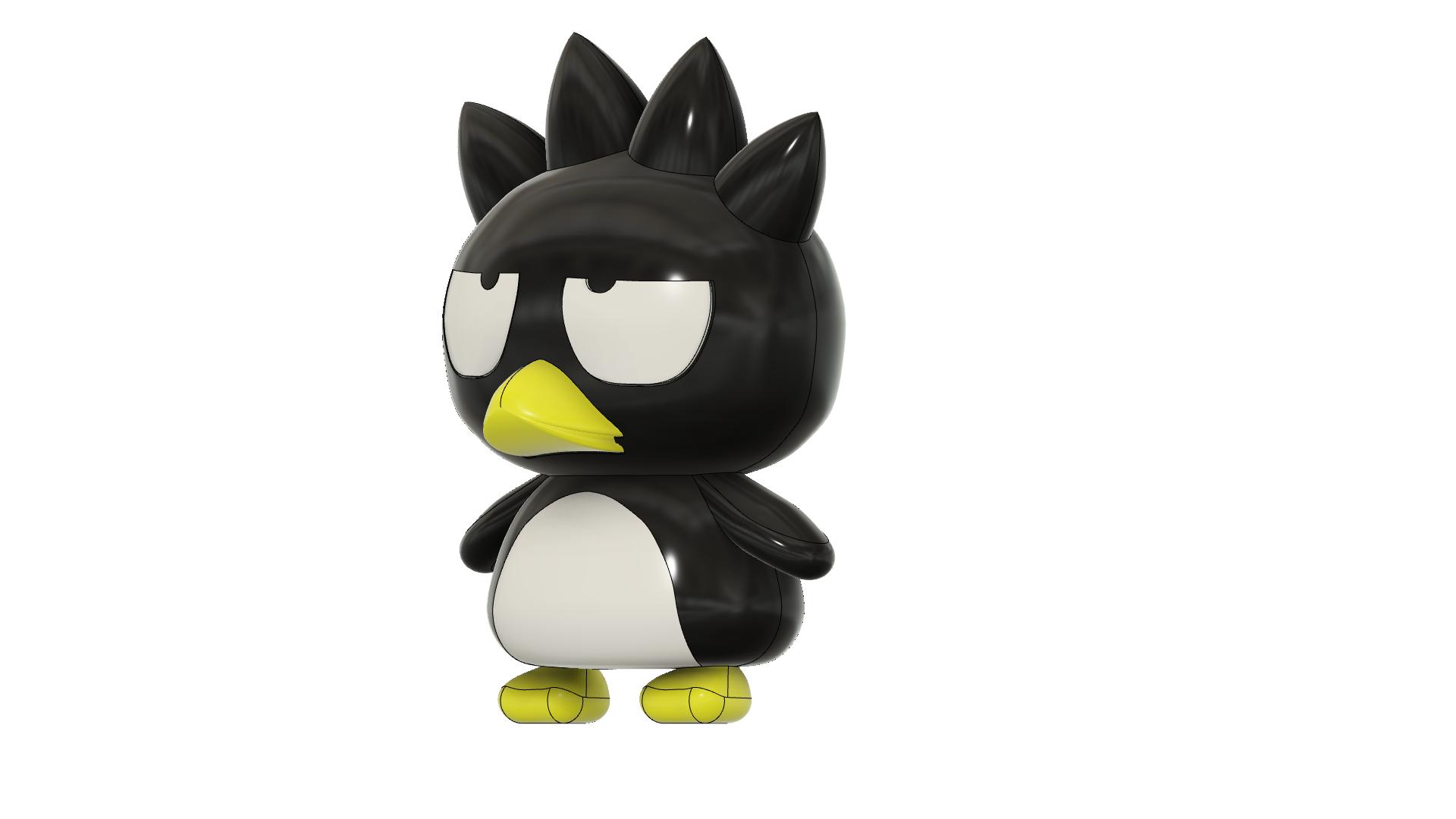 Badtz-Maru_v13.png Download free STL file Badtz-Maru (バッドばつ丸, Baddo Batsu Maru) • 3D printable design, Jangie