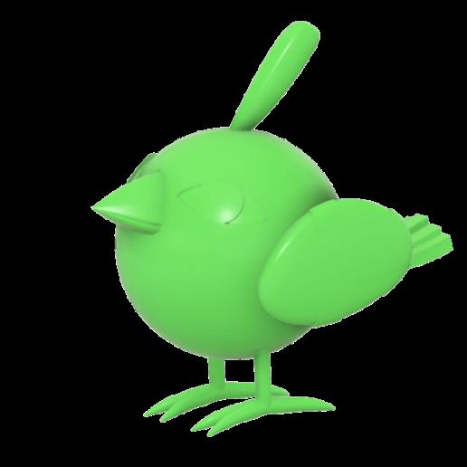 Natu_Pokemon_SLA_v1_a.png Télécharger fichier STL gratuit Natu Pokemon (ネイティ Neiti) • Plan à imprimer en 3D, Jangie