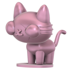 Yani_cat_SLA_v5.png Download free STL file Yani Cat (Pucca) • 3D printable object, Jangie