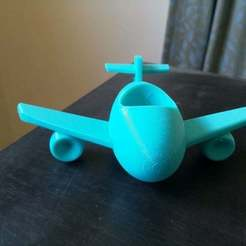 Download free 3D printing designs Airplane kids toothbrush holder, Jangie