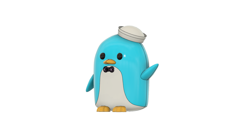 tuxedo sam v9.png Télécharger fichier STL gratuit Tuxedo Sam (l'ami de Hello Kitty) Pingouin (タキシードサム, Takishīdosamu) • Objet pour impression 3D, Jangie