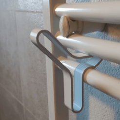 Download free STL file Brackets for sober dry towels and design, maritime inspiration, Palinka