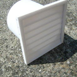 Download free STL file outer duct outlet with rain valve • 3D printing template, sunshine-moped