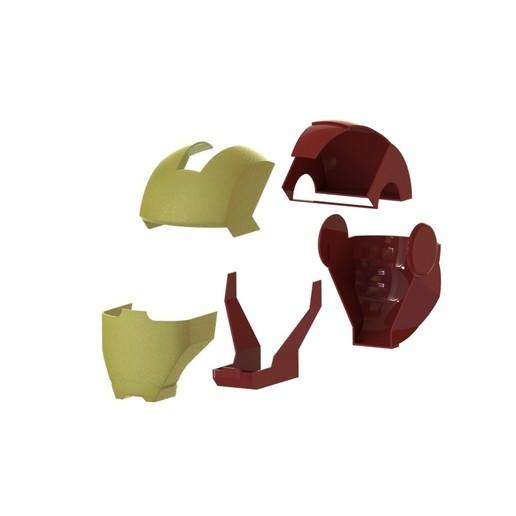 casque éclaté.JPG Télécharger fichier STL gratuit casque iron man • Design imprimable en 3D, mathiscovelli