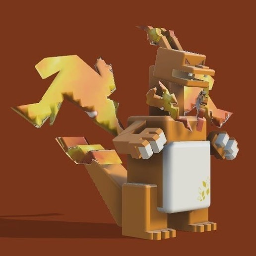 Télécharger fichier impression 3D gratuit (quête pokémon) charizard(gigantamax), lovecocoa0411