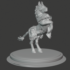 Download free 3D printer files Anduin Wrynn's Horse, andreyhertel