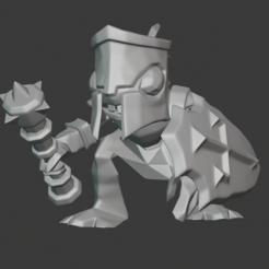 Download free 3D printer templates Murloc Paladin, andreyhertel