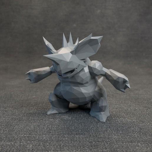 Télécharger fichier 3D Pokemon Nidoking Lowpoly, MarProZ_3D