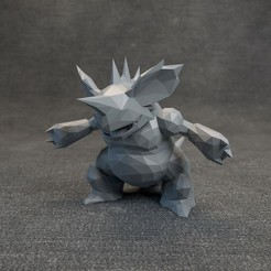 06.jpg Download OBJ file Pokemon Nidoking Lowpoly • 3D print template, MarProZ_3D